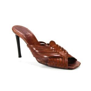 Celine Leather Strappy Slides